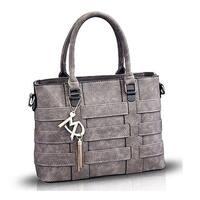Women PU Leather Top Handle Bags Satchel Handbags
