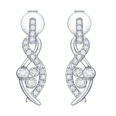 Smiling Rocks Bubbly Collection 0.38Ct G-H/VS1 Lab Grown Diamond Earring