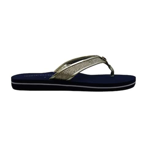 Tommy Hilfiger Women's Black Carrah Flip-Flop Sandals (8, Black)