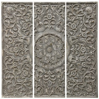 Link to The Gray Barn Floral Pattern Wood Triptych (Set of 3) Similar Items in Wood Wall Art