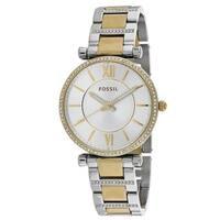Fossil Women's Carlie Silver Dial Watch
