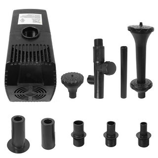 Sunnydaze Electric Water Pond Pump with Filter and 3 Heads Spray Heads, 120 Volts, Size Options Available