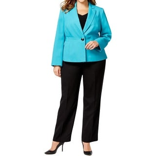 Le Suit Womens Torino Pant Suit Notch Collar 2PC