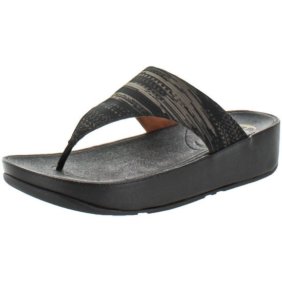FitFlop Women's Lulu Leather Flip Flop Thong Sandal