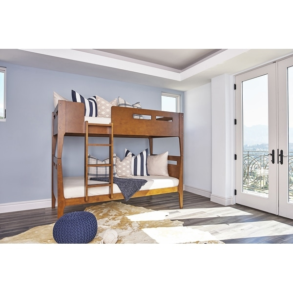 Taylor & Olive Rembrandt Walnut Twin-over-Twin Bunk Bed