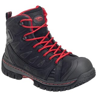 Avenger Men's A7723 Steel Toe EH WP Boot Black Leather