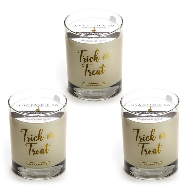 Pumpkin Chai Fall Scented Candle, Premium Natural Soy Wax (3 Pack)