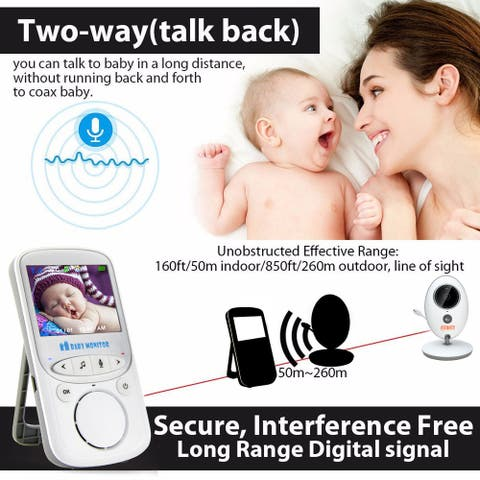 Fitnate® Color LCD Wireless Video Baby Monitor w/ Digital Camera, Night Vision Temperature Monitoring & 2 Way Talkback System