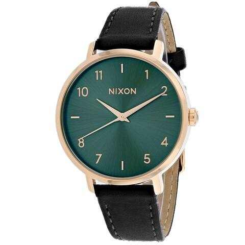 Nixon Women's Arrow Leather Green Watch - A1091-2805 - One Size