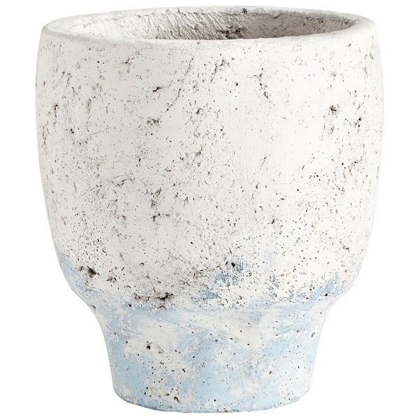 "Cyan Design 09608 Venice 6-3/4"" Diameter Cement Planter - Antique White"