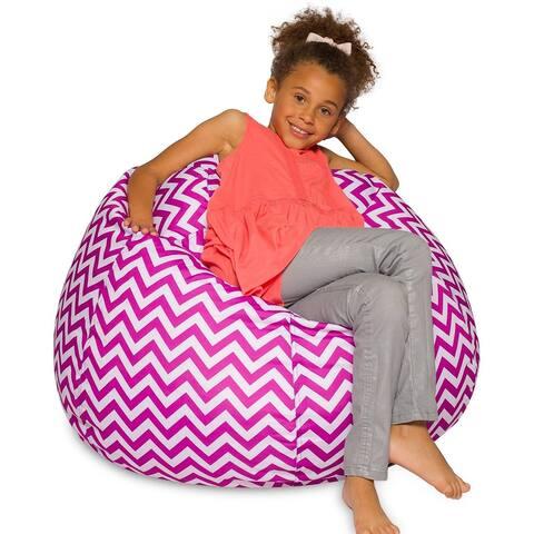 Purple White Chevron Bean Bag Chair Machine Washable Cover