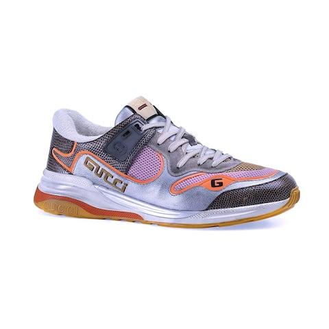 GUCCI Men's Ultrapace Sneaker Silver Multi