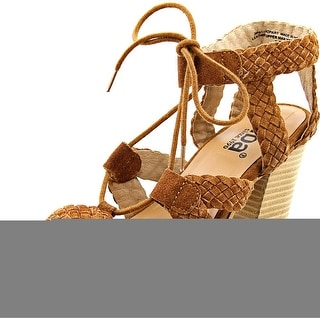 Diba Pop Art Women  Open Toe Suede Tan Sandals