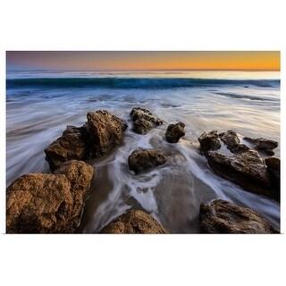 """Rock beach"" Poster Print"