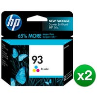 HP 93 Tri-color Original Ink Cartridge (C9361WN) (2-Pack)