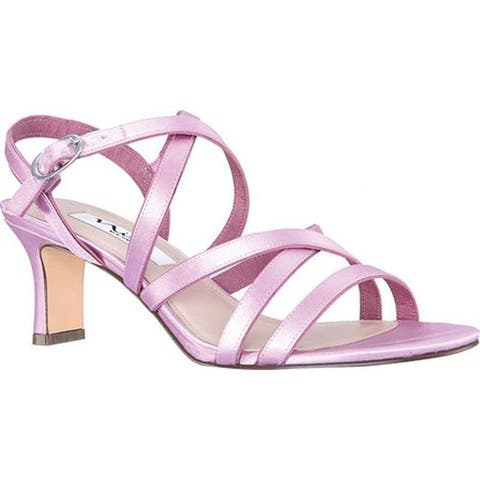 78699067b525 Nina Women s Genaya Strappy Sandal Lilac Satin