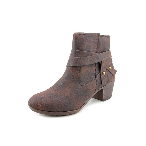 Style & Co. Womens Joeyy Almond Toe Ankle Cowboy Boots