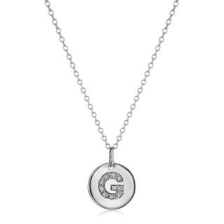 G Initial Pendant With Diamonds In Sterling Silver 18