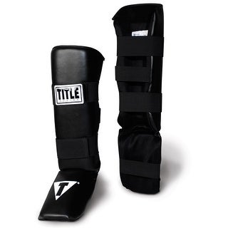 Title Vinyl Shin/Instep Guards-Adult