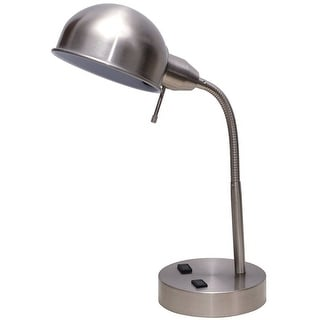 Living Accents 19316-000 Desk Pharmacy Lamp, Brushed Steel