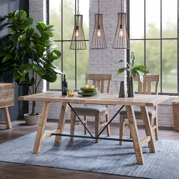 """Carbon Loft Dean Natural Dining Table - Oak - 72""""w x 36""""d x 30""""h. Opens flyout."""