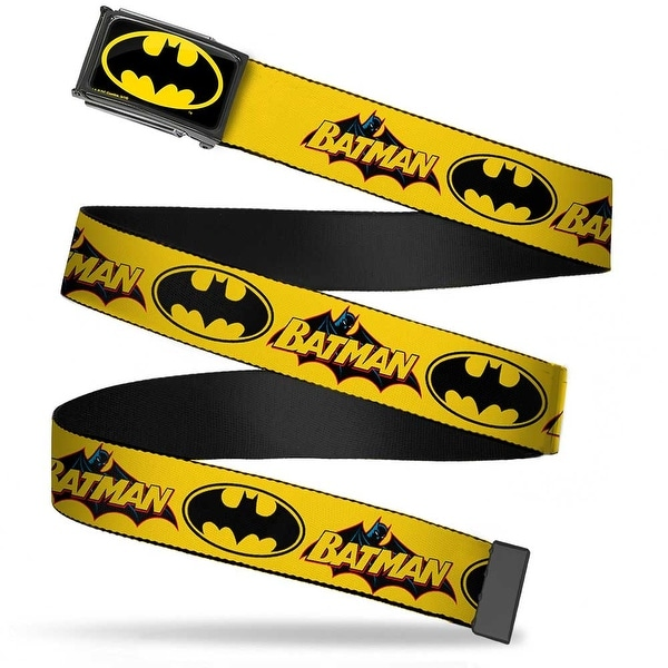 Batman Fcg Black Yellow Black Frame Vintage Batman Logo & Bat Signal Web Belt
