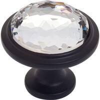 "Atlas Homewares 343 Legacy Crystal 1-5/8"" Diameter Mushroom Cabinet Knob"