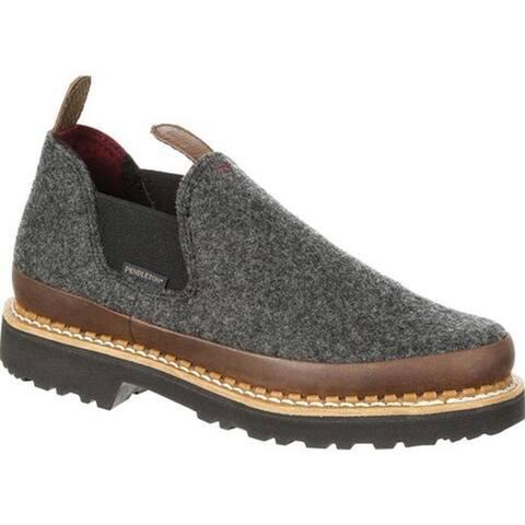 "Georgia Boot Women's GB00214 4"" Giant Pendleton Romeo Shoe Charcoal Grey Full Grain Leather"