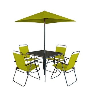 Link to Patio Premier 6pc Patio Set - Square Table - Pepper Stem Similar Items in Outdoor Dining Sets