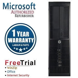 Refurbished HP Compaq 4000 Pro SFF DC E5800 3.2G 2G DDR3 80G DVD Win 7 Pro 64 Bits 1 Year Warranty - Black