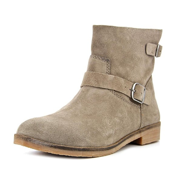 Lucky Brand Galvann Women Round Toe Suede Gray Ankle Boot