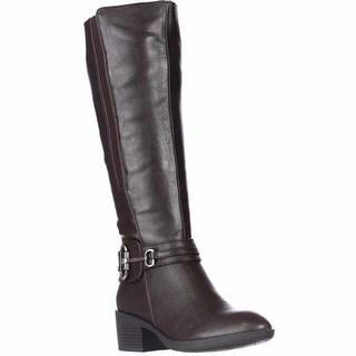White Mountain Hocus Low Heel Knee-High Boots, Brown