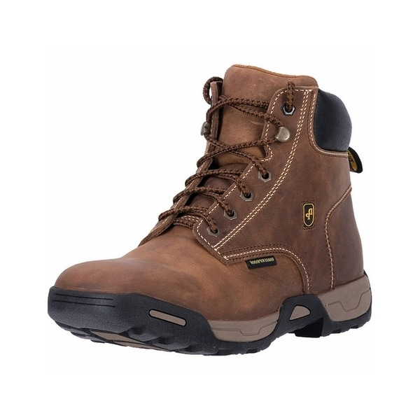 Dan Post Work Boots Mens Cabot Logger Waterproof Leather Brown