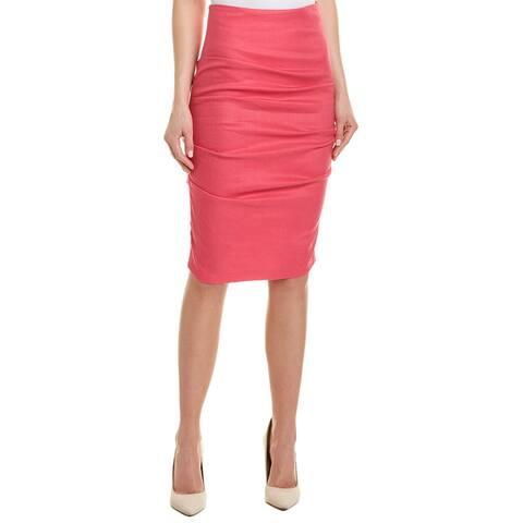 Nicole Miller Artelier Linen-Blend Pencil Skirt