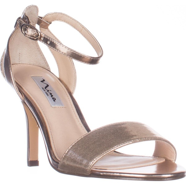 Nina Venetia Ankle Strap Dress Sandals, Champagne