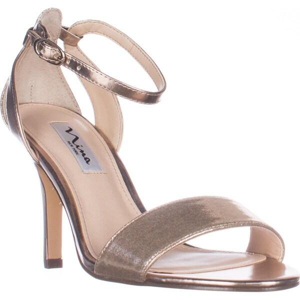 Nina Venetia Ankle Strap Dress Sandals, Taupe Reflection