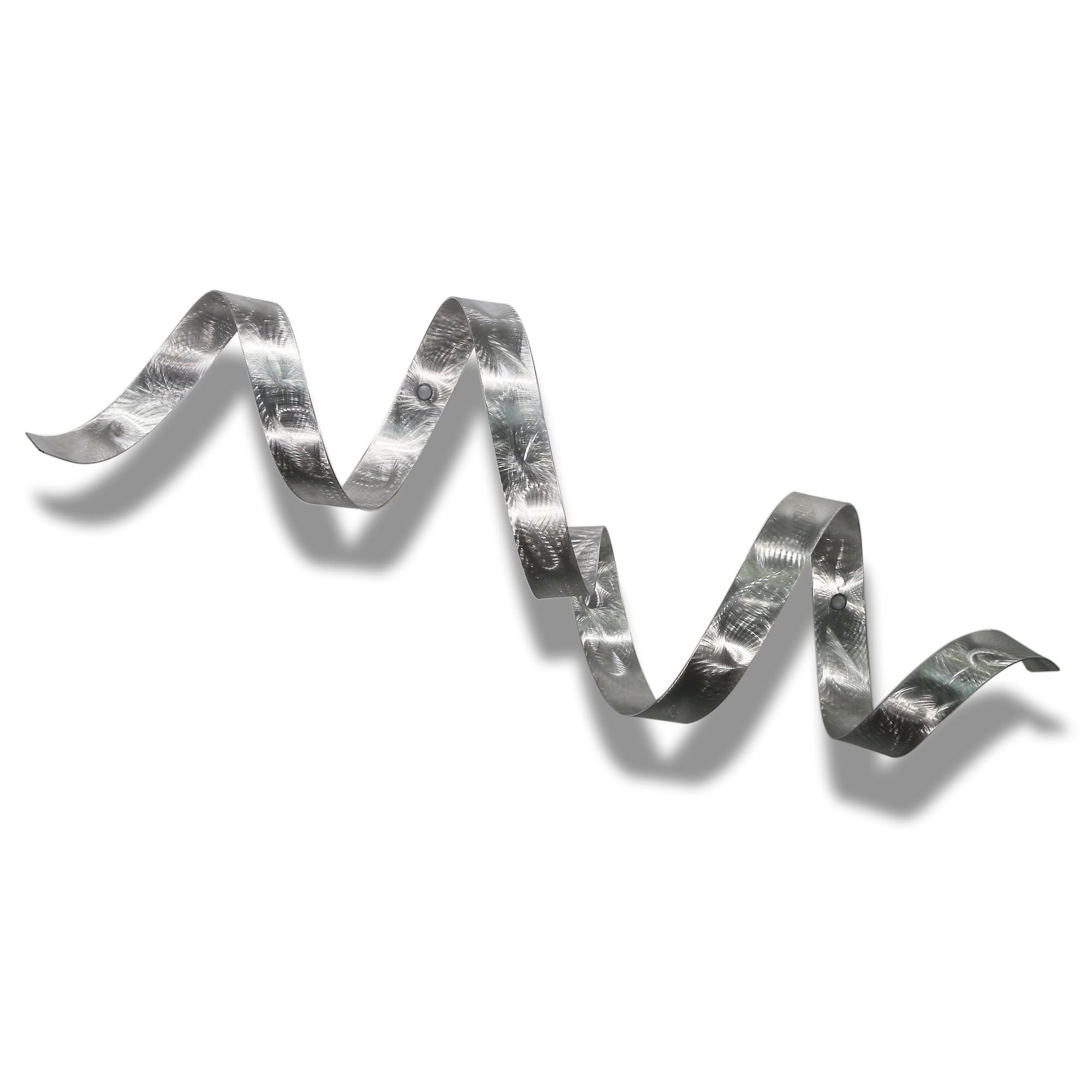 Statements2000 Silver Modern Metal Wall Art Sculpture Accent Decor By Jon Allen Twist