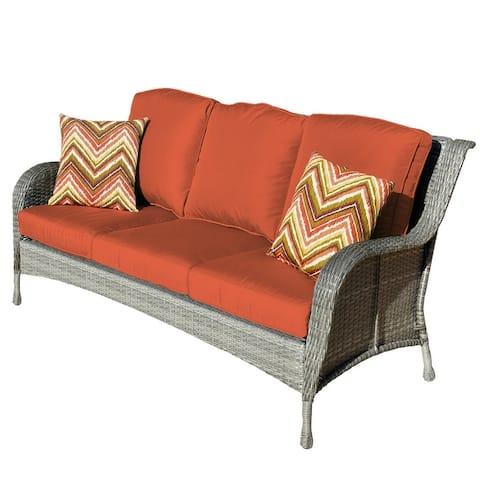 Outdoor garden furniture 6 Pieces Conversation wicker Sofa set
