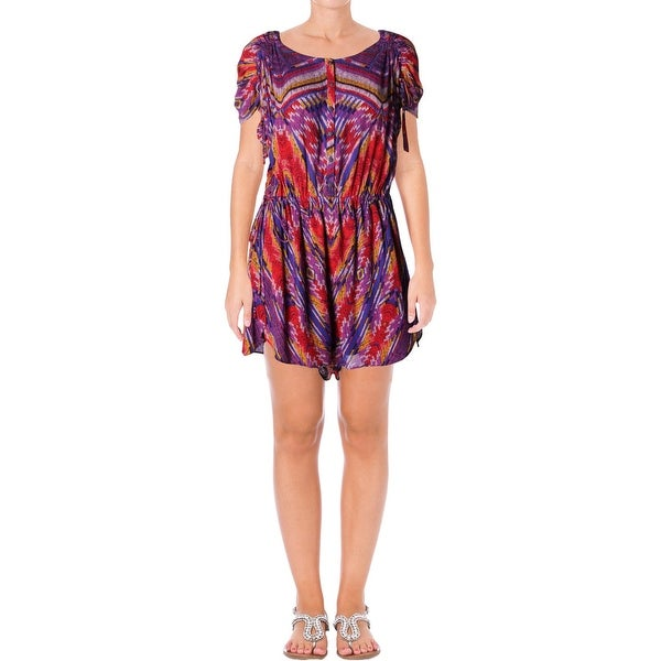 05af1210d732 Shop Free People Womens Dream All Night Romper Printed Button Down ...