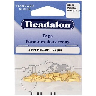 Beadalon - Jewelry Tags - Open Circle - Silver-Plated, 15/Pkg.