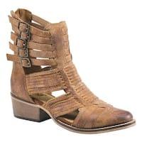 Diba True Women's Vino Time Bootie Cognac Leather