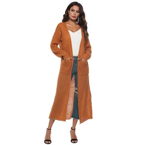 Womens Sweater Cardigan Lightweight Open Front Classic Long Office Fashion Cardigan