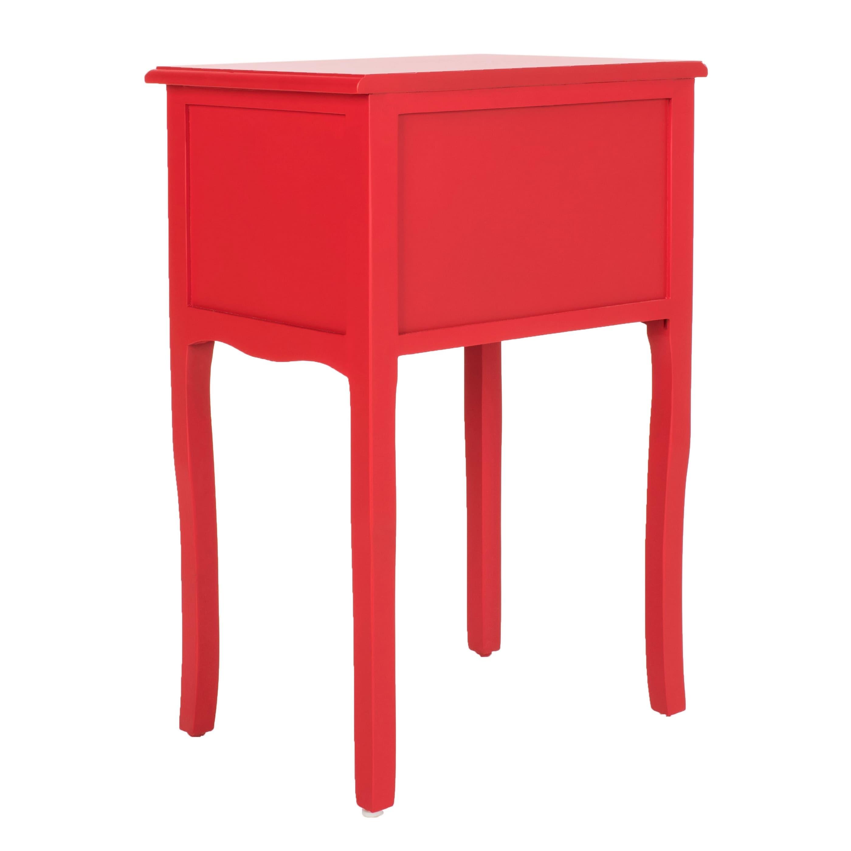 - Shop Safavieh Lori Red Accent Table - 18.1