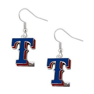 """Texas Rangers Dangle """"T"""" Logo Earring Set Charm Gift MLB"""