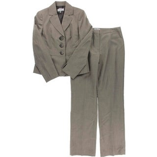 Le Suit Womens Torino Single-Breasted 2PC Pant Suit