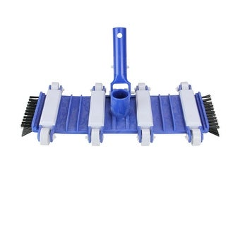 "15"" Classic Flexible Weighted In-Ground Swimming Pool Vacuum Head on Wheels with Side Brushes - Blue"