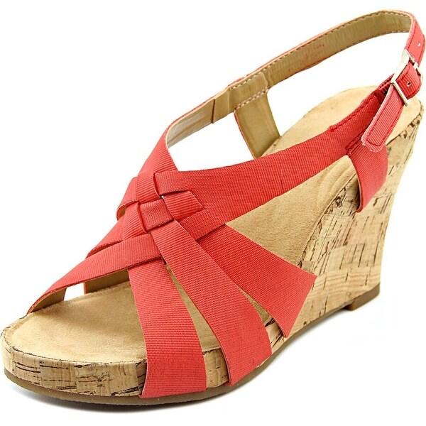 Aerosoles Guava Plush Women Coral Combo Sandals
