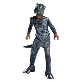 Kids Jurassic World Velociraptor Blue Costume