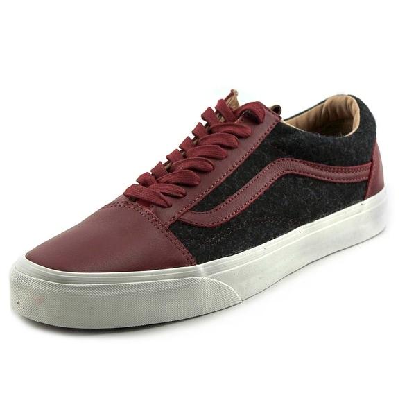 Vans Old Skool Reissue CA Round Toe Leather Sneakers