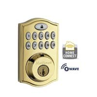 Kwikset 914TRL-ZW SmartCode Single Cylinder Touchpad Electronic Deadbolt with Z-Wave Technology